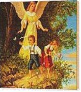 Heiliger Schutzengel Guardian Angel 8 Oil Wood Print