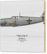 Heinz Ebeling Messerschmitt Bf-109 - White Background Wood Print by Craig Tinder