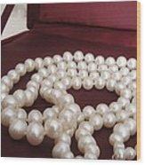 Heirloom Pearls Wood Print