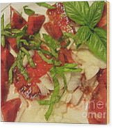 Heirloom Tomato Salad Wood Print