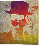 Heisenberg - 9 Wood Print