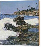 Heisler Park Waves Laguna Wood Print