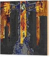 Held Before 9-11 Fire Sky Wood Print