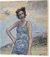 Helen Of Troy Vs Sputnik Wood Print