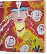 Helianna - Angel Of Divine Serenity Wood Print