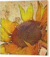 Helianthus Wood Print