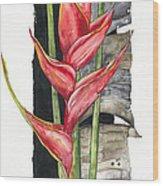 Heliconia 01 Elena Yakubovich Wood Print