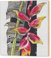 Heliconia 03 Elena Yakubovich Wood Print