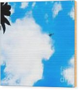 Helicopter Wood Print by Lisa Cortez