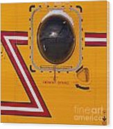 Helicopter Porthole Window Mirrors Rotor Blade Wood Print