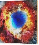 Helix Nebula Wood Print by Dan Sproul