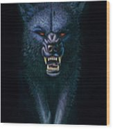 Hell Hound Wood Print