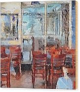 Hellas Restaurant And Bakery  Wood Print by L Wright