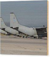 Hellenic Air Force C-27j Spartan Wood Print