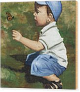 Hello Butterfly Wood Print