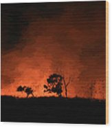 Hells' Horizon Wood Print