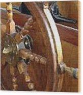 Helm In The Princeton Hall Wheelhouse Wood Print