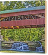 Helmick Mill Or Island Run Covered Bridge  Wood Print