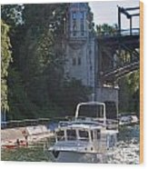 Helmsman 37 Yacht Wood Print
