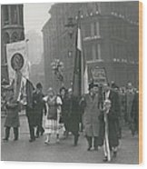 �help Hungary� Parade In Streets Of London Wood Print