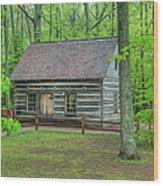 Helser Log House Wood Print