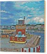 Helsingborg Lighthouse Hdr Wood Print