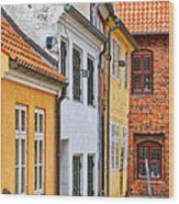 Helsingor Town Centre Wood Print