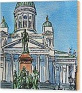 Helsinki Finland Wood Print by Irina Sztukowski