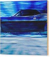 Hemi Cuda Wood Print