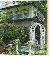 Hemingway House Wood Print by Kay Gilley