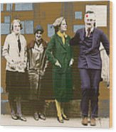 Hemingway In Blood Wood Print