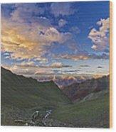 Hemis Sunset Wood Print by Aaron Bedell