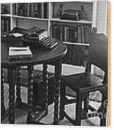 Hemmingway's Desk Wood Print