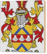 Hemphill Coat Of Arms Irish Wood Print