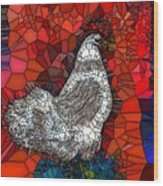 Hen Watch I Wood Print