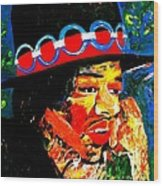 Hendrix Rocks Wood Print