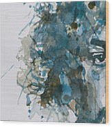 Hendrix Watercolor Abstract Wood Print