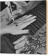 Henna Artist At Play Wood Print
