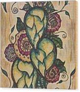 Henna Hops Study 1 Wood Print