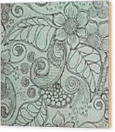 Henna Pattern Wood Print by Salwa  Najm