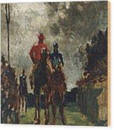 Henri De Toulouse Lautrec Wood Print by The Jockeys