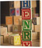 Henry - Alphabet Blocks Wood Print