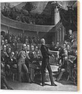 Henry Clay Speaking In The Senate Wood Print