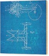 Henry Ford Transmission Mechanism Patent Art 1911 Blueprint Wood Print