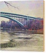 Henry Hudson Bridge And The Palisades Wood Print