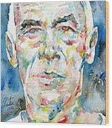 Henry Miller Portrait.1 Wood Print
