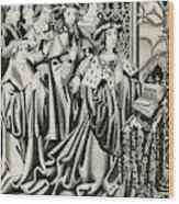 Henry Vi And His Court At  Prayer Wood Print