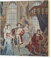 Henry Viii And Anne Boleyn Wood Print