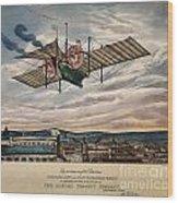 Henson's Aerial Steam Carriage 1843 Wood Print