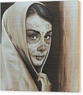Hepburn De Los Muertos Wood Print